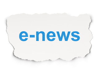News concept: E-news on Paper background