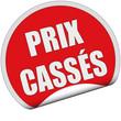 Sticker rot rund cu PRIX CASSÉS