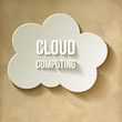 Cloud Cloud-Computing Rechnen in der Wolke Vintage