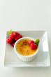 Creme Brulee with rasperries