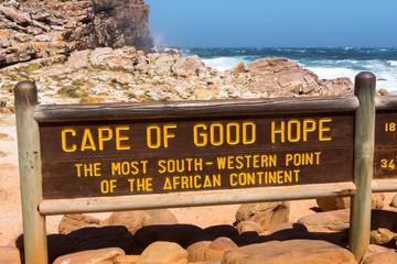 Hinweistafel am Kap der guten Hoffnung