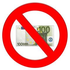 Divieto banconota euro