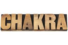 Chakra woord in houtsoort