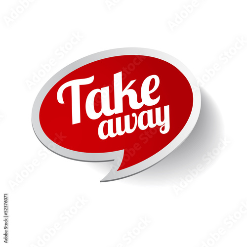 Take away sticker label