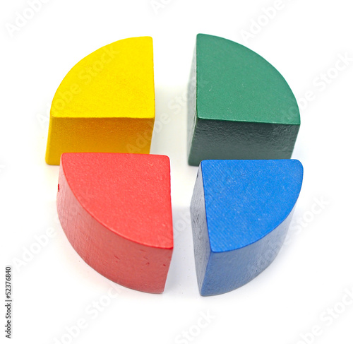 Colorful diagram on the white background.