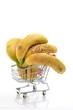 Bananen im Einkaufswagen