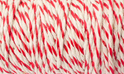 Red and white string