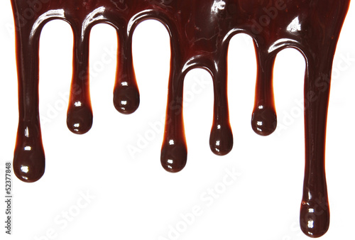 chocolate streams isolated on white background