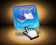 E-Learning Button mit Cursor