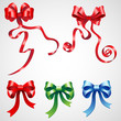 vector illustration of set of colorful ribbon bow