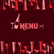 vector illustration of restaurant wine bar menu design