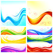 vector illustration of collection of colorful background