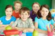 Happy schoolkids