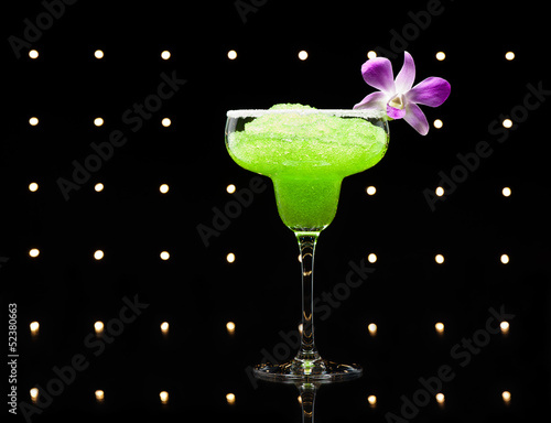 Green margarita cocktail