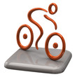 Illustration of orange cyclist