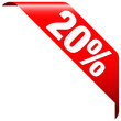 """Banner """"20%"""" Red"""
