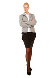 Portrait of beautiful business woman standing
