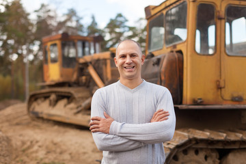 Portrait of tractor operator