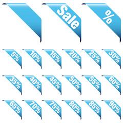 """Banner Set """"Sale"""" Blue"""