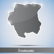 shiny icon in form of Suriname
