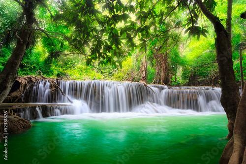 Tuinposter Overige Thailand waterfall in Kanjanaburi