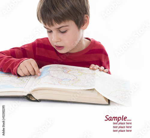 boy reading, education concept