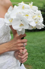 Bride's bouquet, A bride holding a beautiful modern bouquet