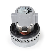 Small electric motor on white background, closeup