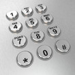 Metallic pay phone keypad