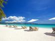 Relax area on beach