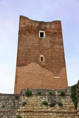 ancient tower ruins of the castle of Juliet in Montecchio in Ita