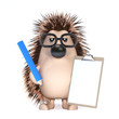 Cute hedgehog makes a list