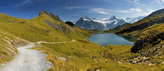 Swiss mountain Alps lake - Grindelwald