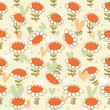 Flourish seamless drawn pattern