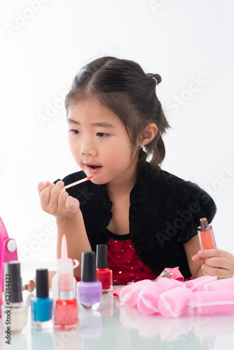 Doing make-up