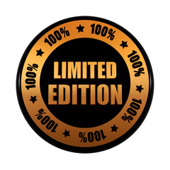 limited edition 100 percentages in golden black circle label