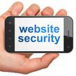 SEO web development concept: Website Security on smartphone