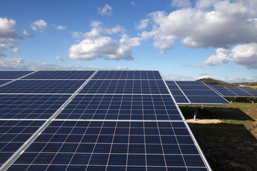 Solarpark bei Homberg (Effze) in Hessen