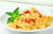 Bow tie pasta with cream sauce