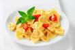 Bow tie pasta with cream sauce