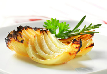 Pan roasted onion