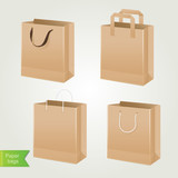 Set shoping bags.Vector illustration.