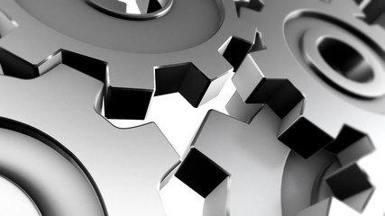 Animated 3d gears, loopable.