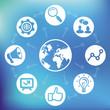 Vector internet marketing concept