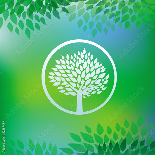 Vector ecology concept - tree emblem