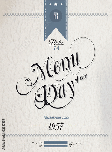 Old Style Vintage Menu of the Day background template.