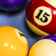 billiard balls number 15