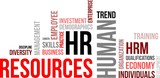 word cloud - human resources