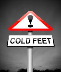 Cold feet concept.