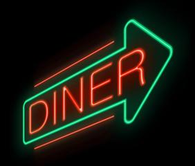Neon diner sign.